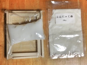 washi mold, konnyaku powder