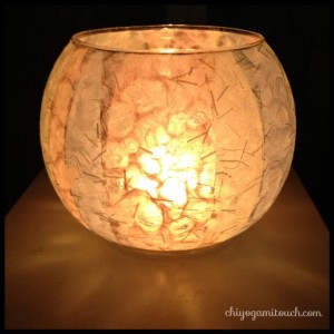japanese paper candle holder
