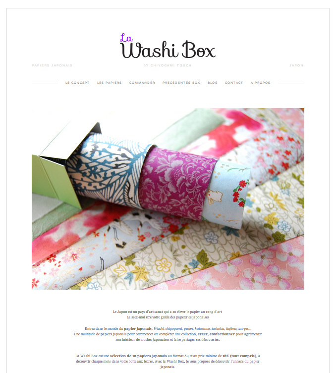 washi box papier japonais